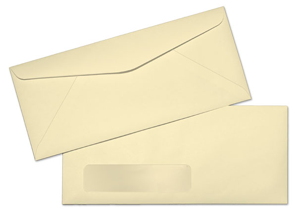 standard window envelope template - 10 24lb ivory springhill bond standard window