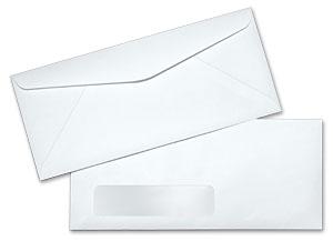 10 24lb white wove standard window commercial envelopes. Black Bedroom Furniture Sets. Home Design Ideas