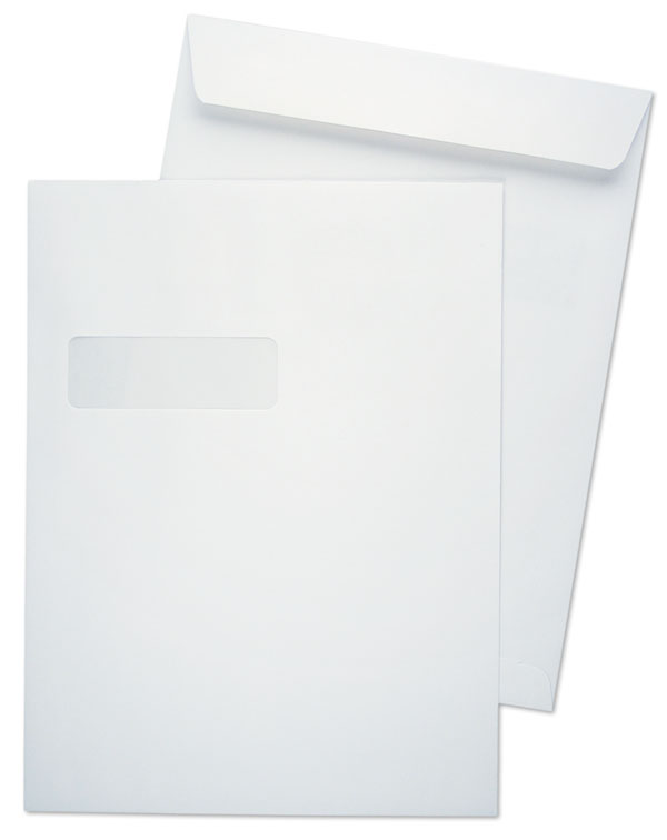 9 x 12 catalog 28lb white wove horizontal window 1 catalog envelopes paoli envelope. Black Bedroom Furniture Sets. Home Design Ideas
